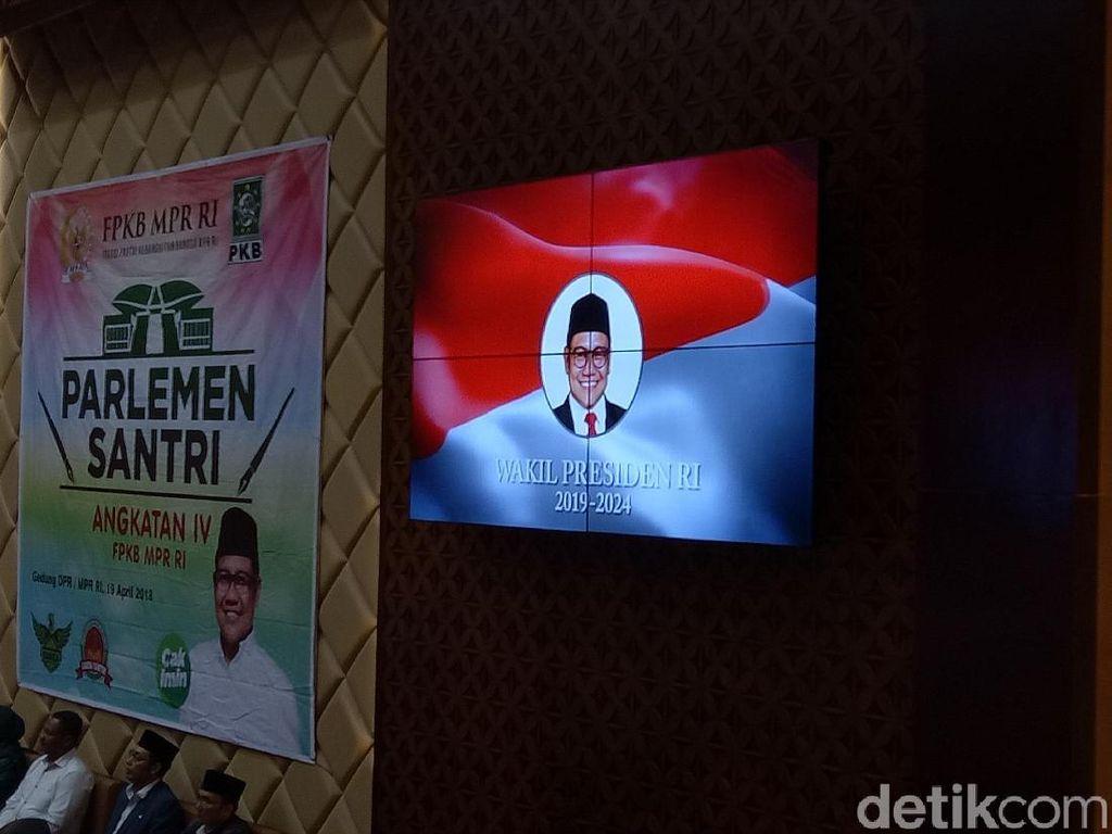 Di DPR, PKB Putar Video Cak Imin Wapres RI 2019-2024