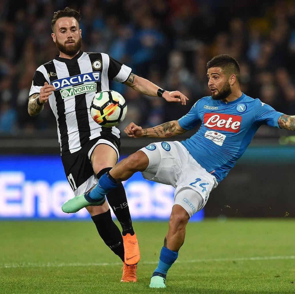 Usai Dua Kali Tertinggal, Napoli Atasi Udinese 4-2