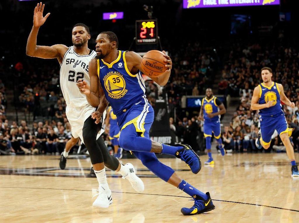 Ungguli Spurs 3-0, Warriors di Ambang Semifinal Wilayah Barat