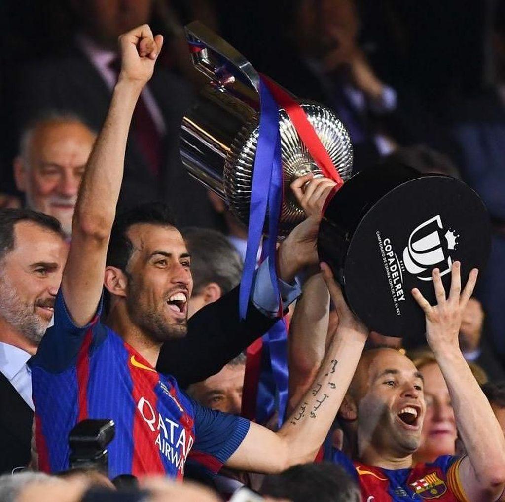 Ini Empat Pemain Barca yang Paling Sering Main di Final Copa del Rey