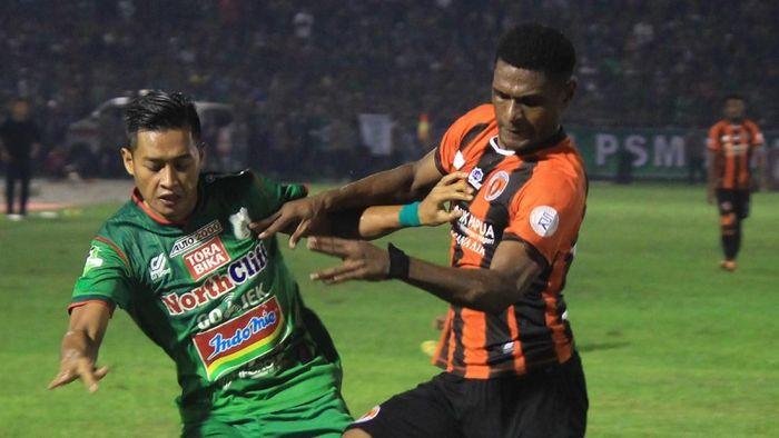 PSMS Medan menang 1-0 atas Perseru Serui. (Foto: Septianda Perdana/Antara)