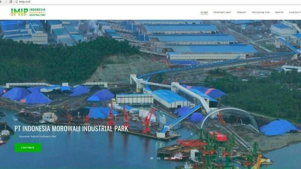 Foto: PT Indonesia Morowali Industrial Park, Morewali, Sulawesi Tengah (website PT IMIP)
