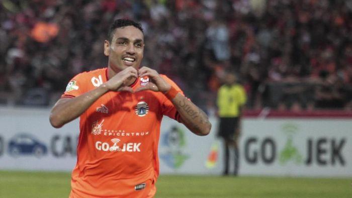 Jaimerson saat bermain untuk Persija Jakarta di musim lalu. (Foto: Andreas Fitri Atmoko/Antara)