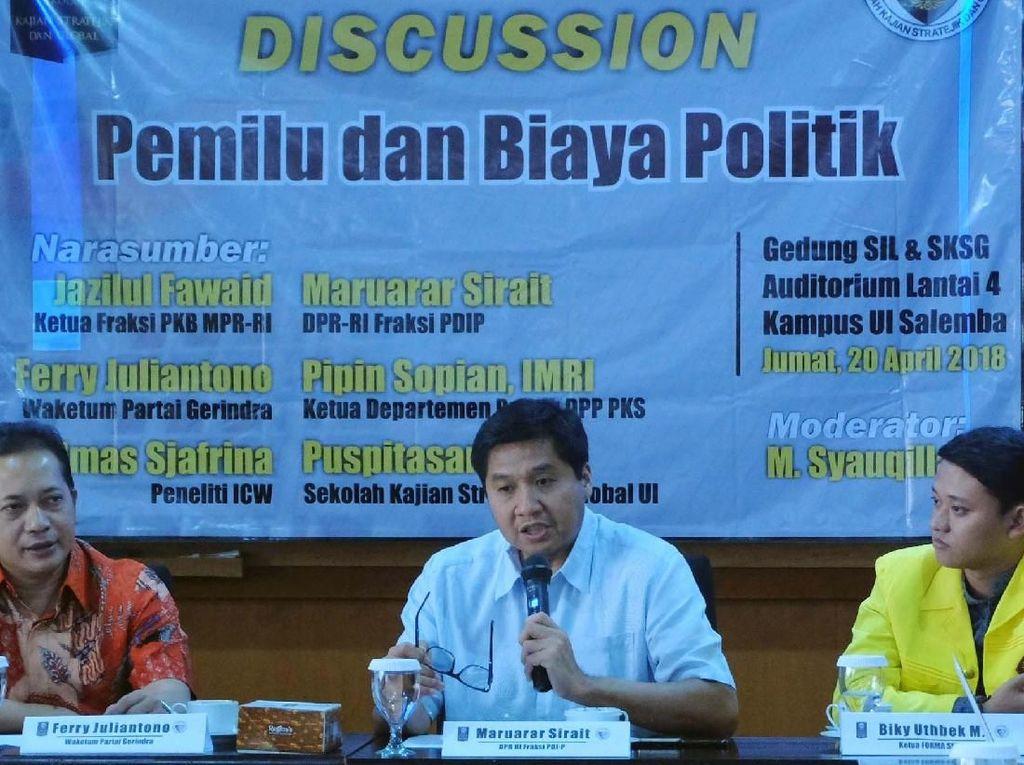 Diskusi Menakar Pemilu dan Biaya Politik