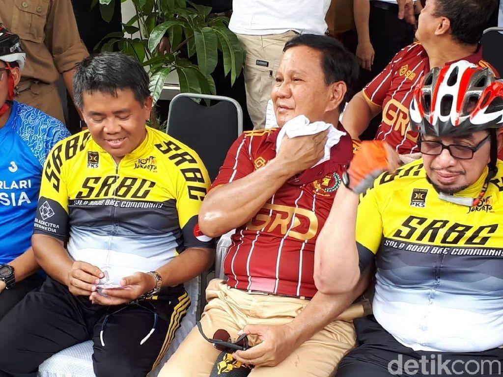 Cerita Sandiaga Bujuk Prabowo Bersepeda ke Milad PKS