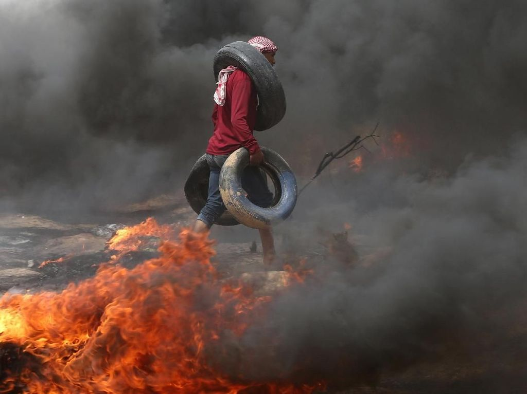Situasi Bentrok di Perbatasan Gaza-Israel yang Tewaskan 4 Orang