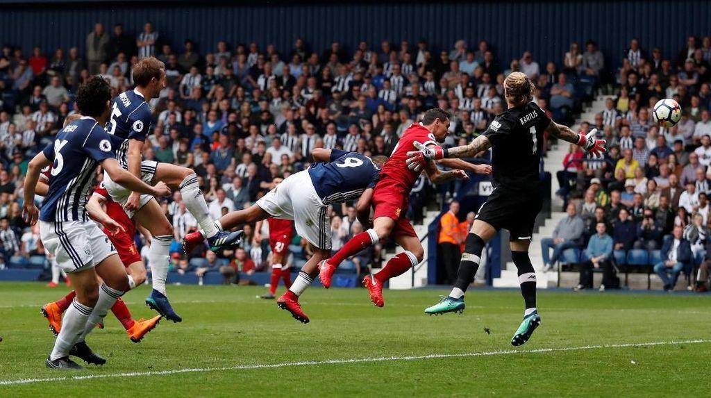 Buang Keunggulan Dua Gol, Liverpool Diimbangi West Brom