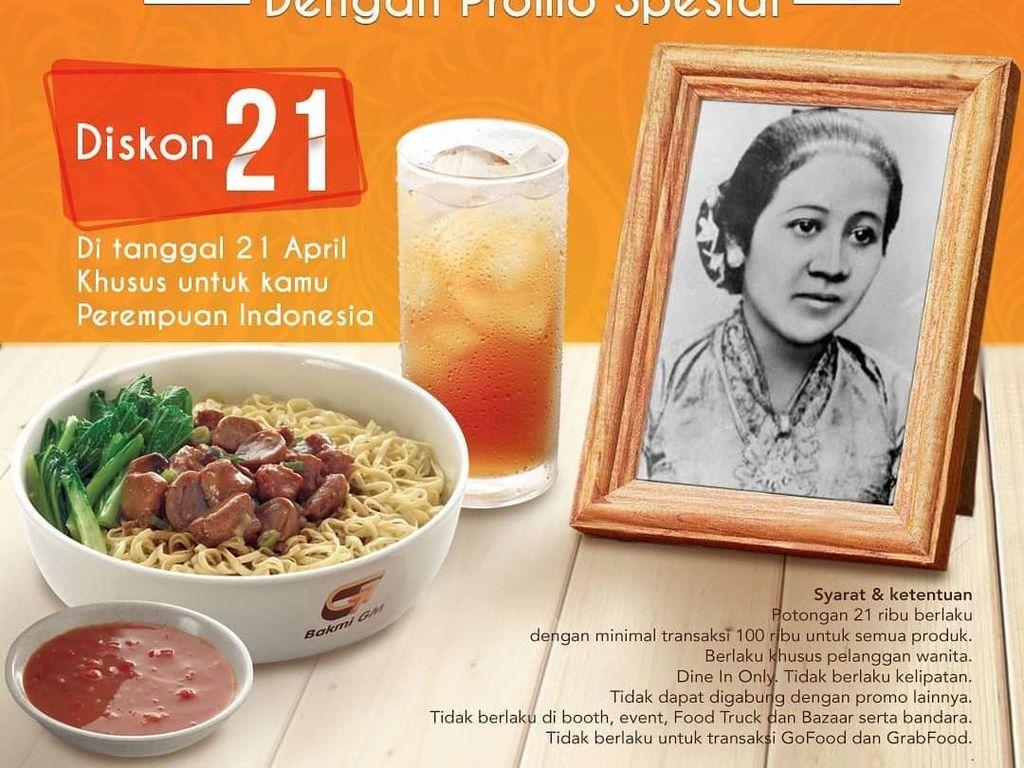 Peringati Hari Kartini, Hari Ini Para Wanita Bisa Nikmati Bakmi hingga Cake dengan Harga Spesial