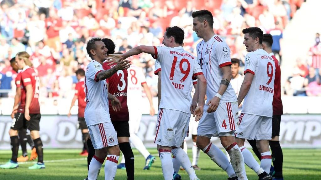 Bayern Menang Tiga Gol di Markas Hannover