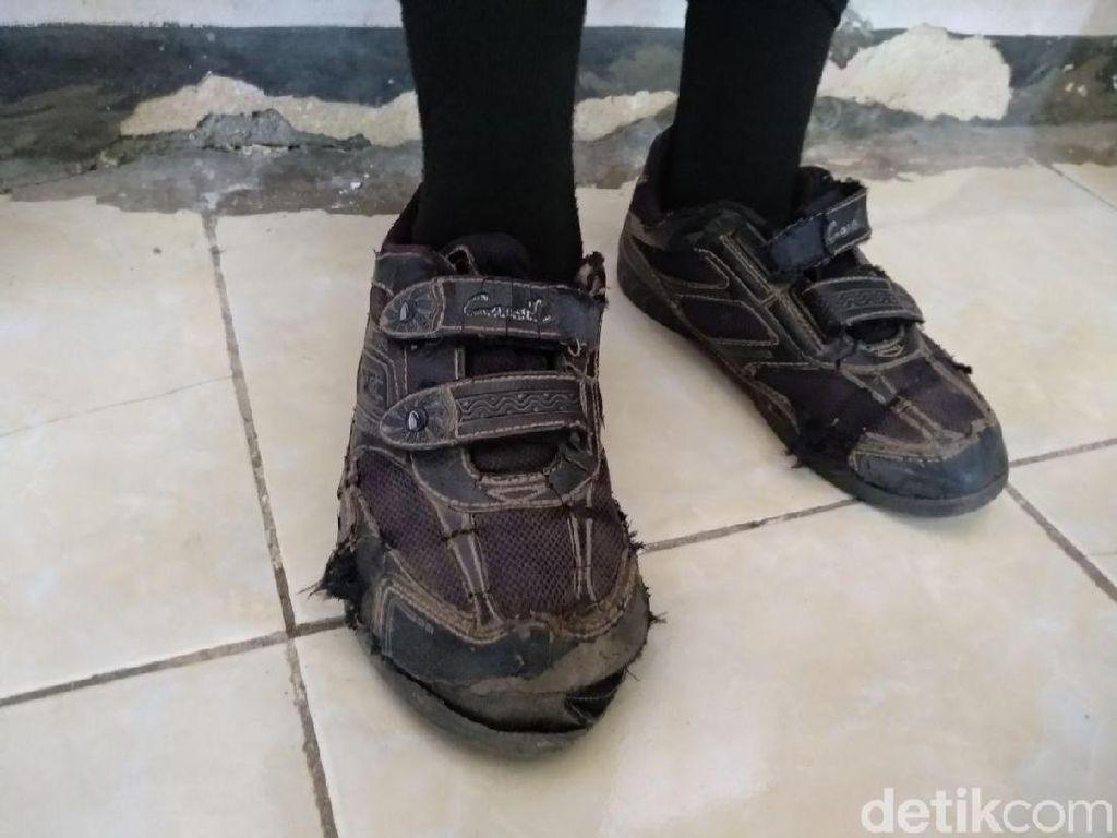 Saat Sepatu Impian Anak-anak Yatim Piatu Jadi Kenyataan