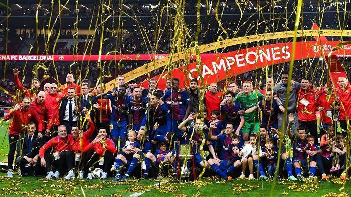 Barcelona saat menjuarai Copa del Rey 2018. (Foto: David Ramos/Getty Images)