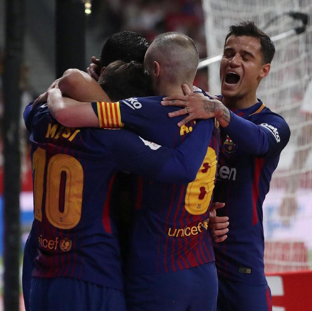 Barcelona Juara Copa del Rey Usai Gilas Sevilla 5-0