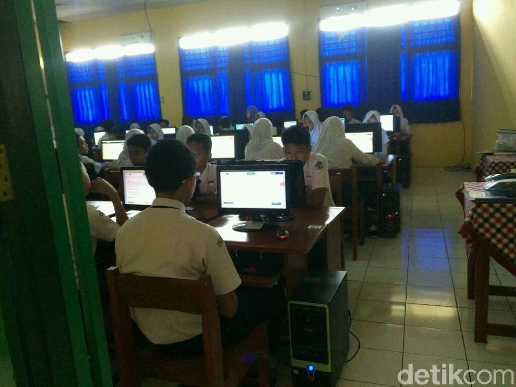 Server Error, Pelaksanaan UNBK SMP di Ciamis Telat 20 Menit