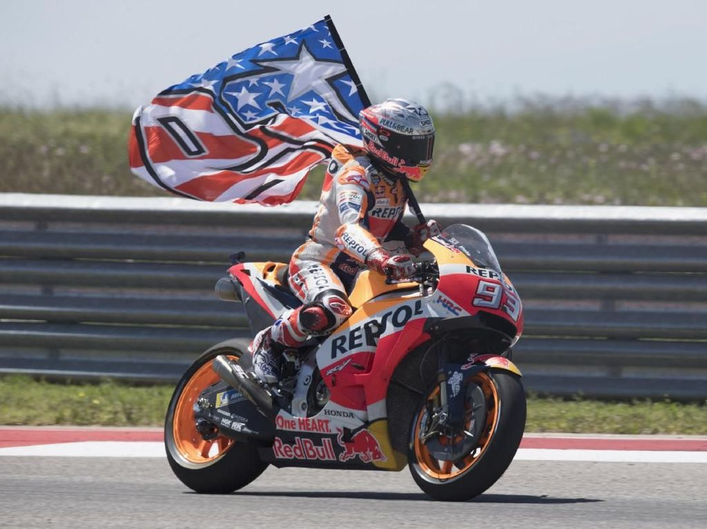 Sejengkal Menuju Juara Dunia, Marquez Diingatkan Kesalahan di Austin