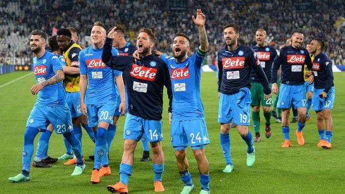 Napoli gagal meraih Scudetto dan harus mengakui keunggulan Juventus (Massimo Pinca/REUTERS)