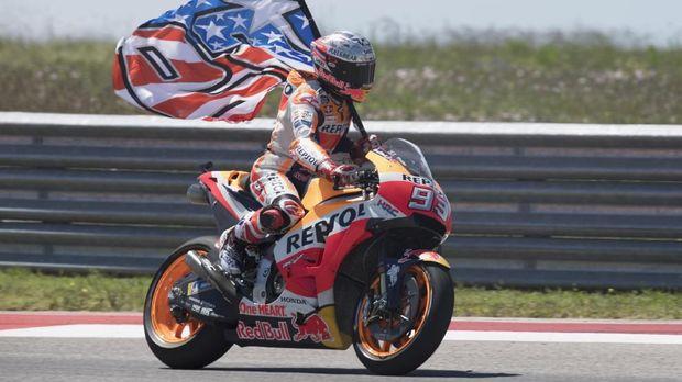 Marquez raih catatan terbaik di MotoGP Amerika Serikat pada musim lalu.