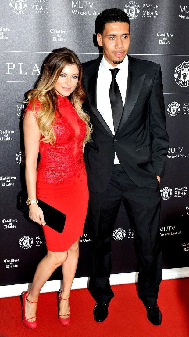 Chris Smalling dan pasangan, Sam Cooke