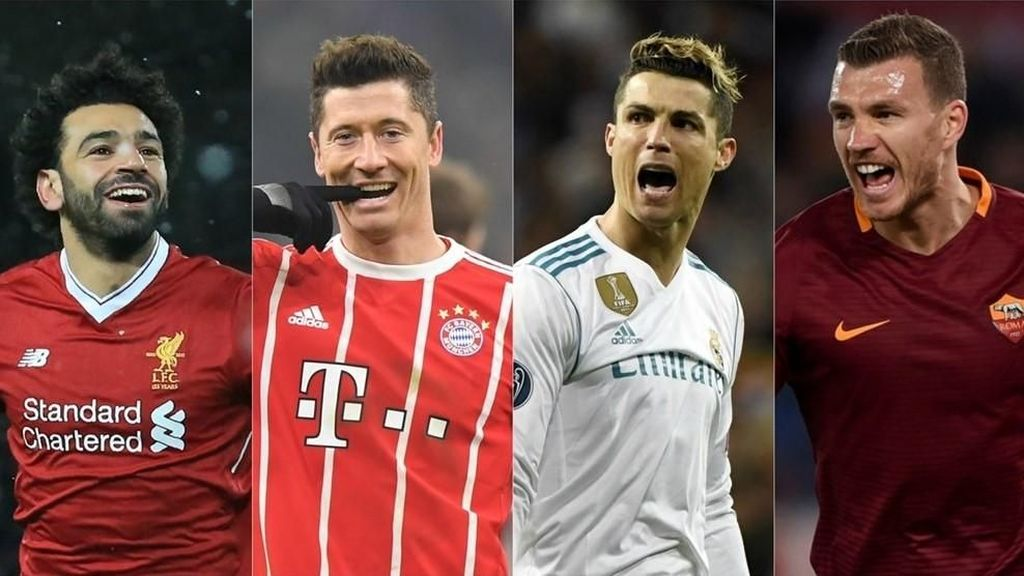 Statistik: Ronaldo vs Lewandowski dan Salah vs Dzeko