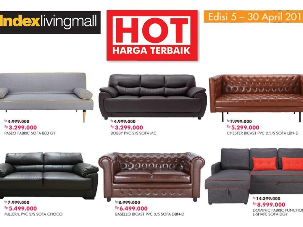 Sofa Cantik Turun Harga di Index Living Mall