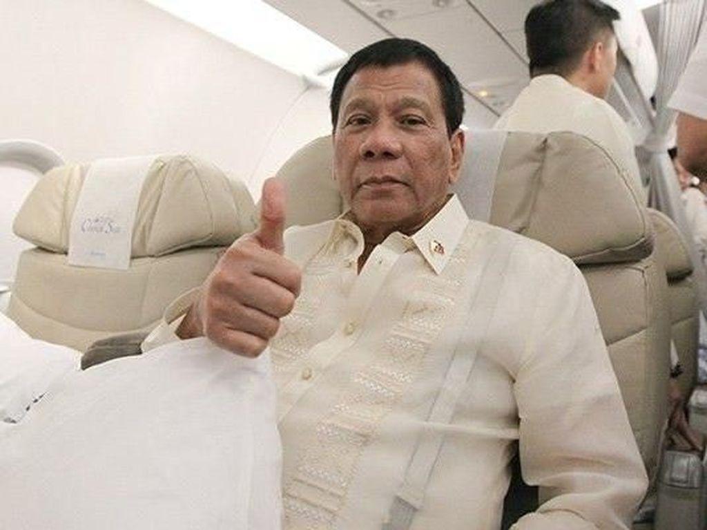 Usai Dikritik, Duterte Pakai Pesawat Pribadi Hadiri KTT ASEAN