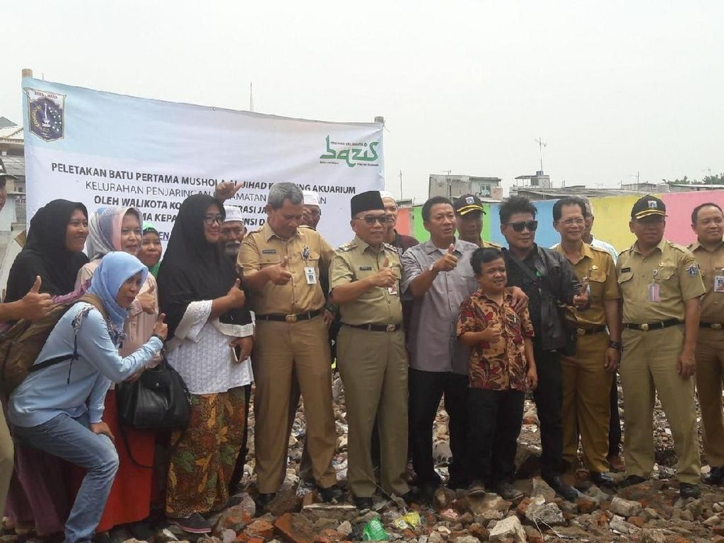 Pemprov DKI Jakarta Bangun Musala di Kampung Akuarium
