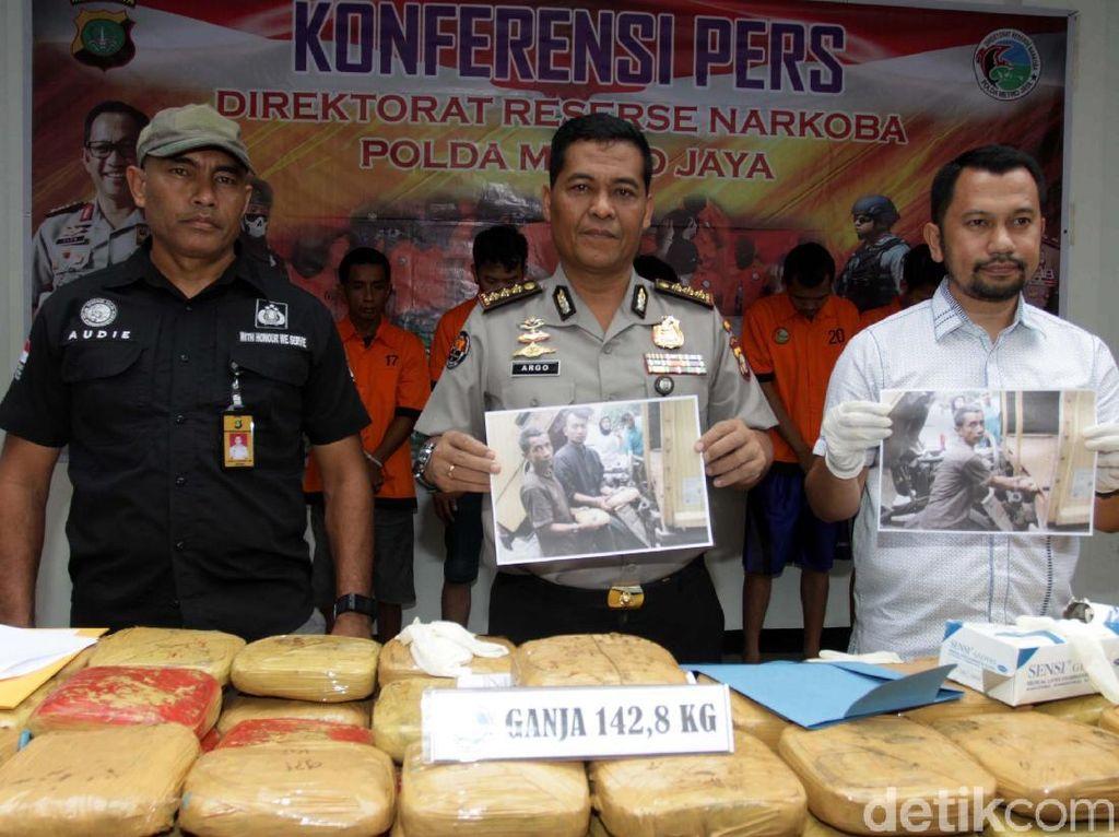 Penyelundupan 142 Kg Ganja Jaringan Lapas Digagalkan Polisi