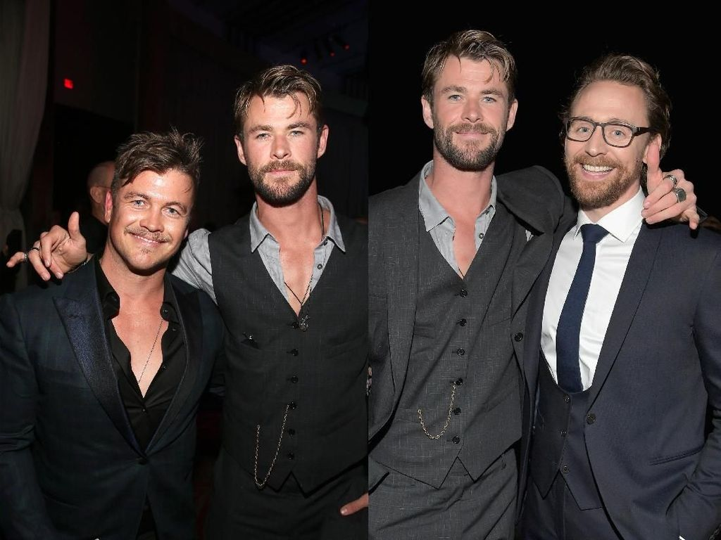 Saudara Kandung dan Tiri Chris Hemsworth di Premier Infinity War