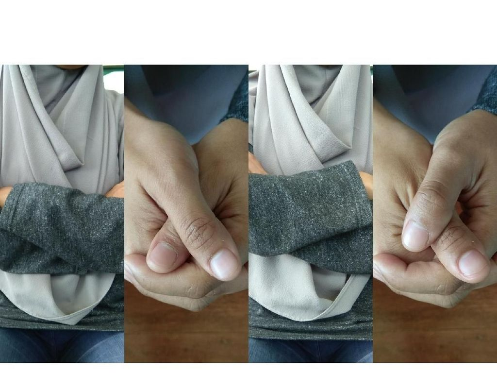 Gerakan Menyilangkan Tangan dan Menggenggam Bisa Menunjukan Kepribadianmu