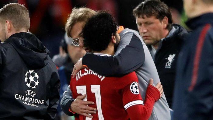 Mohamed Salah diganti agar terhindar dari risiko cedera. (Foto: Carl Recine/Action Images via Reuters)