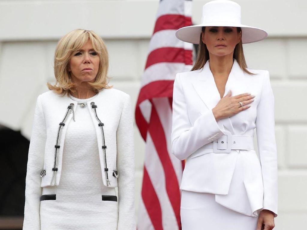 Istri Presiden Prancis Ungkap Fakta Melania Trump Tak Boleh Keluar Rumah