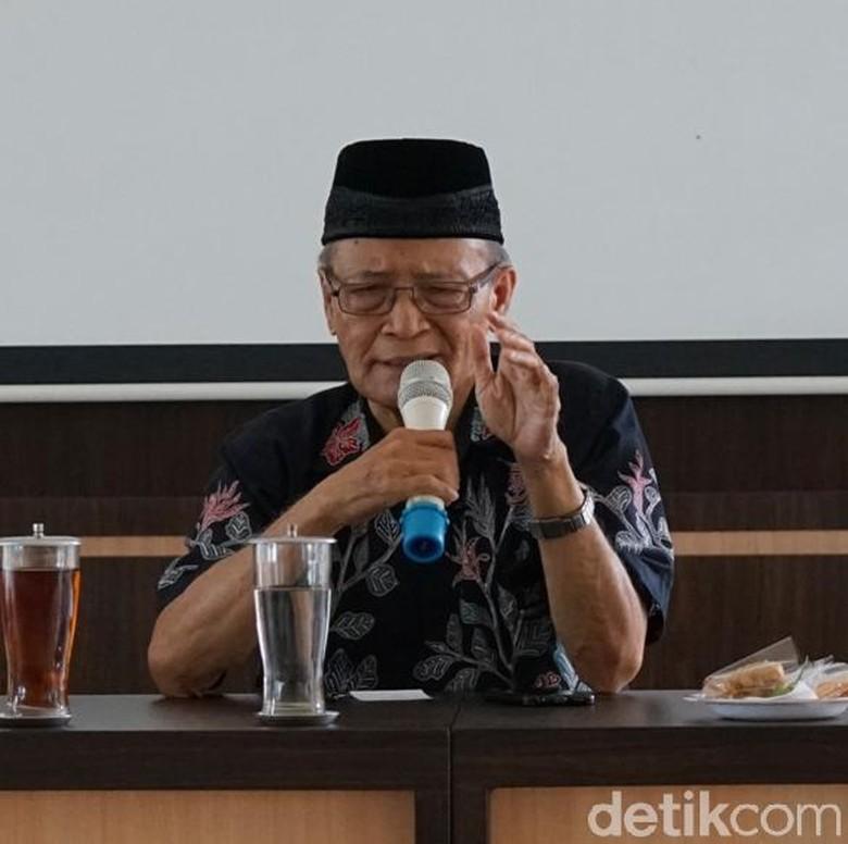 Amien Rais Suruh Ustadzah Sisipi Pengajian Dengan Politik, Buya Syafii Maarif Tepis Pernyataan Mantan Ketua MPR Itu