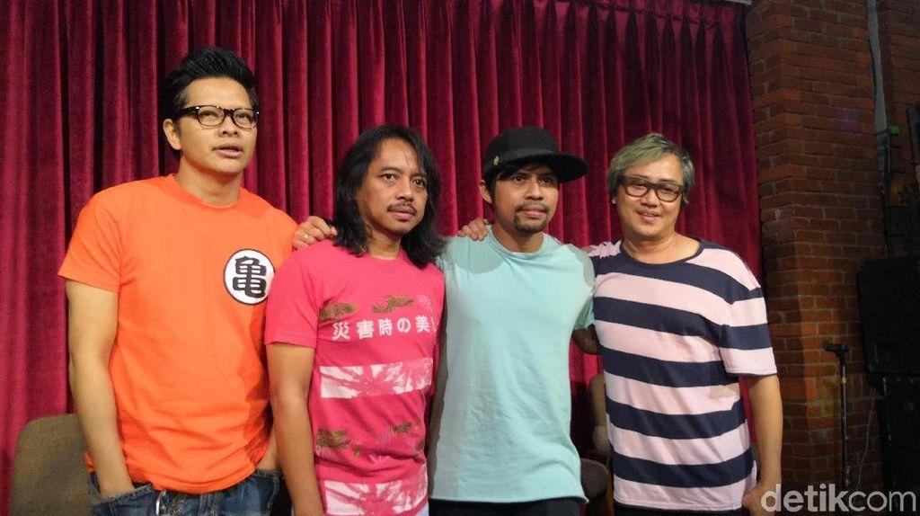 Di Konser Reuni, GIGI Pertemukan Gusti Hendy dengan 2 Mantan Drummernya
