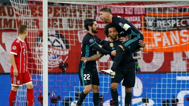 Gol dari Marcelo di akhir babak pertama membangkitkan semangat El Real.