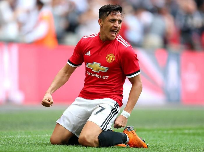 Pemain Manchester United, Alexis Sanchez. (Foto: Catherine Ivill/Getty Images)