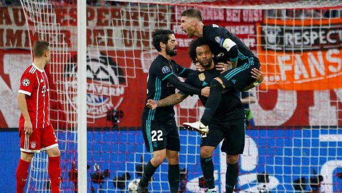 Bayern Munich unggul duluan tapi akhirnya Real Madrid yang menang (Foto: Michaela Rehle/Reuters)