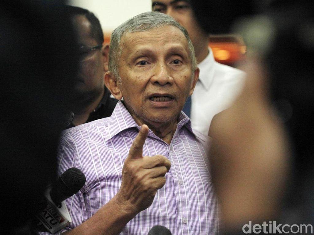 Sambangi DPR, Amien Rais Bahas Pilpres 2019?