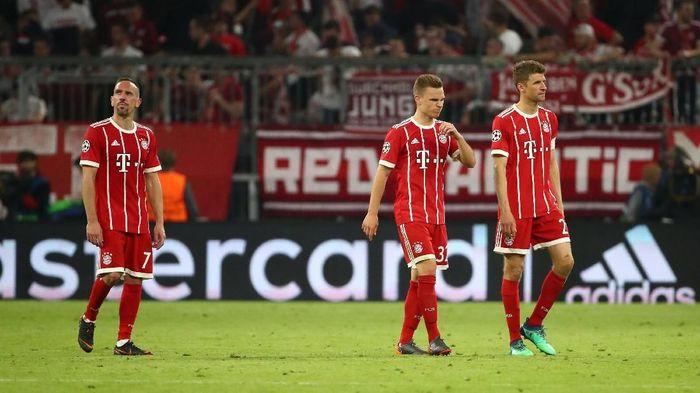Bayern Munich kalah 1-2 dari Real Madrid di leg pertama semifinal Liga Champions di Allianz Arena (Foto: Michael Dalder/Reuters)