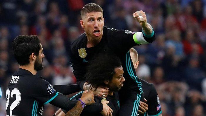 Real Madrid menang 2-1 atas Bayern Munich di leg pertama semifinal Liga Champions (Foto: Kai Pfaffenbach/Reuters)