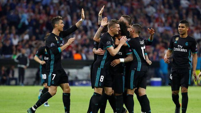 Real Madrid menang 2-1 atas Bayern Munich. (Foto: Kai Pfaffenbach/Reuters)