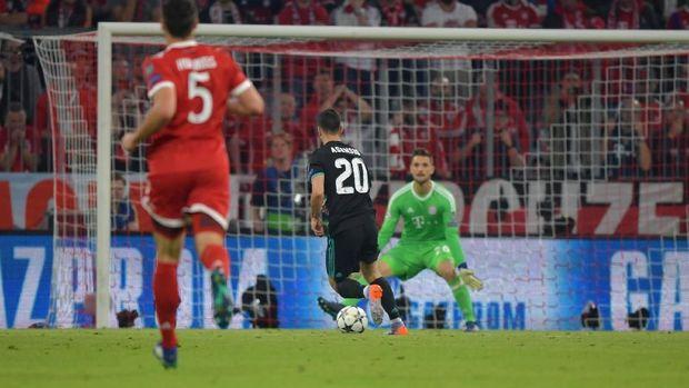 Marco Asensio mencetak gol kemenangan Real Madrid atas Bayern Munchen.