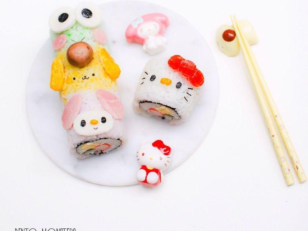 Nyam! Lucunya Sushi Roll Bentuk Totoro hingga Hello Kitty yang Imut