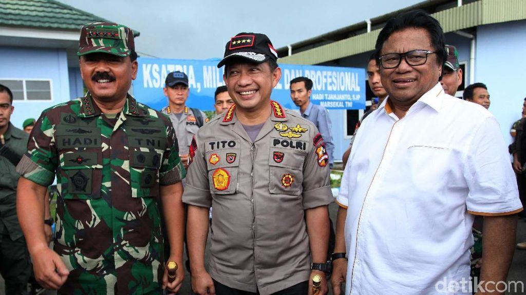 Panglima TNI, Kapolri dan Ketua DPD Tinjau Perbatasan