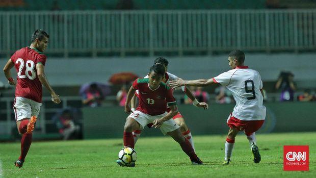 Timnas Indonesia U-23 kalah 0-1 dari Bahrain.