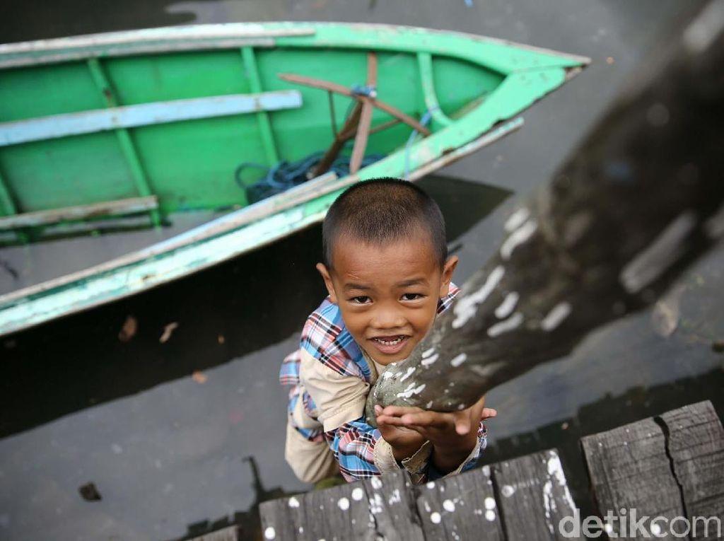 Kondisi Kampung Terdampak Tumpahan Minyak Mulai Normal