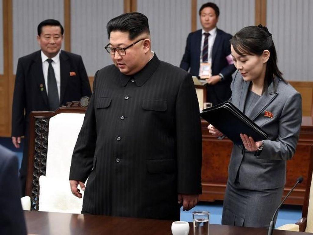 Ajak Adiknya, Begini Pertemuan Kim Jong-Un dan Presiden Korsel