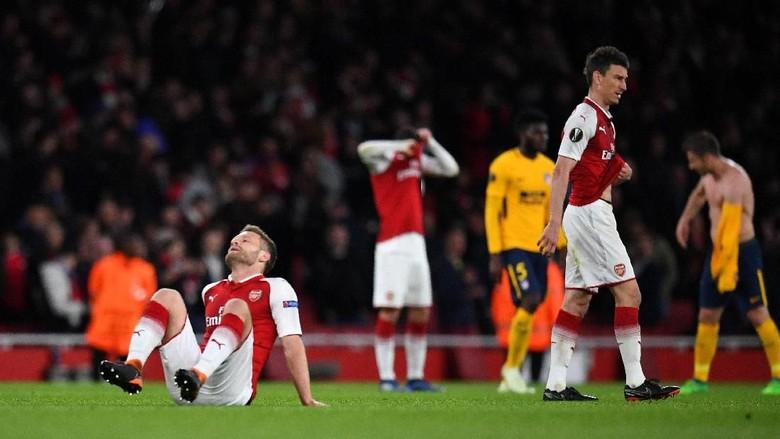 Imbang dengan 10 Pemain Atletico, Tersisa Penyesalan untuk Arsenal