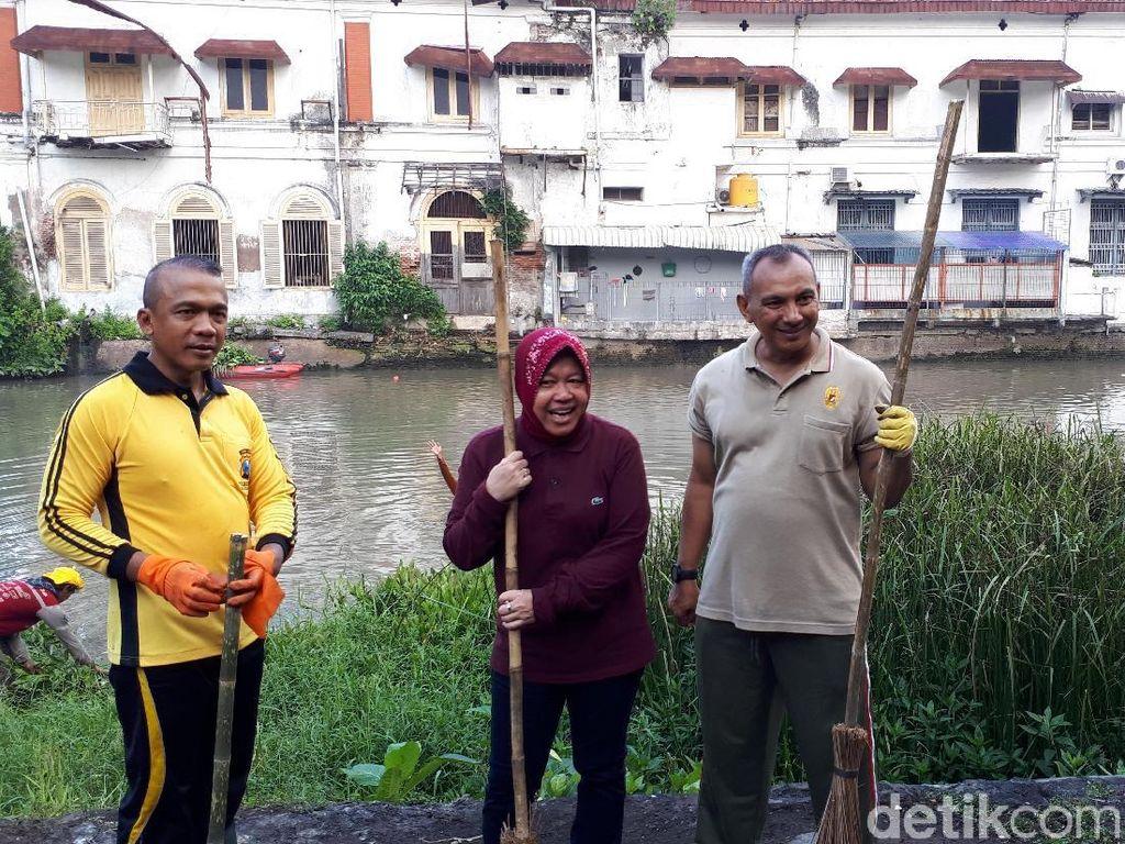 Risma Ingin Buat Obyek Wisata Sungai di Seputaran Jembatan Merah