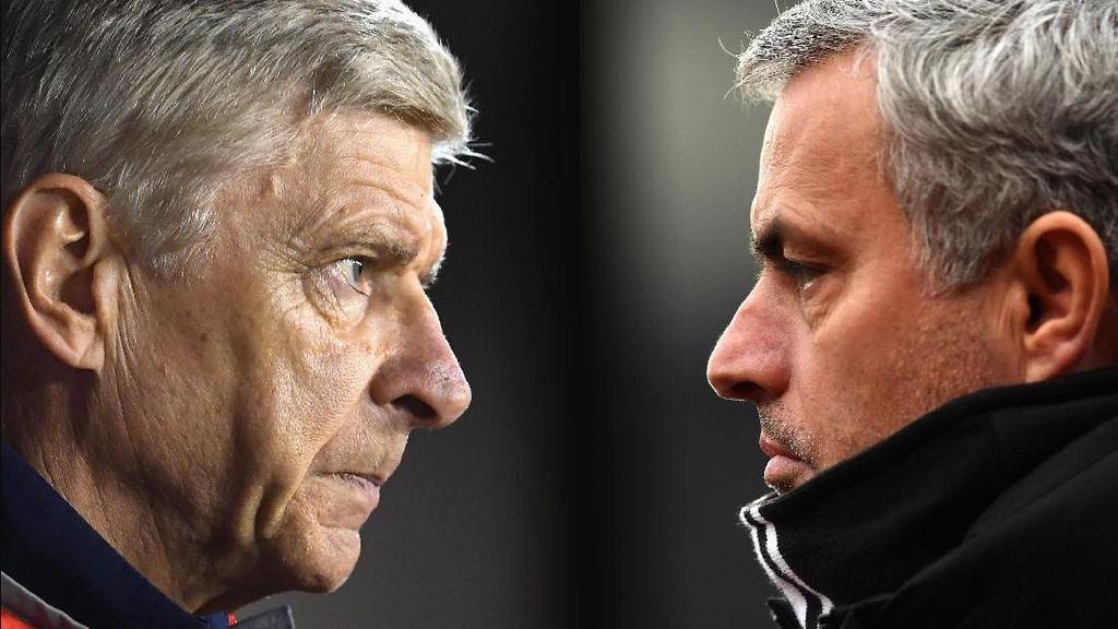 Head to Head: Wenger Kalah Telak dari Mourinho
