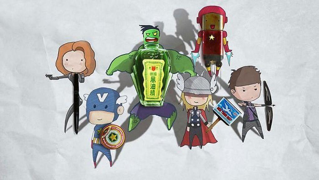 Lucu! Bermodal Benda Sederhana Bisa Jadi Superhero