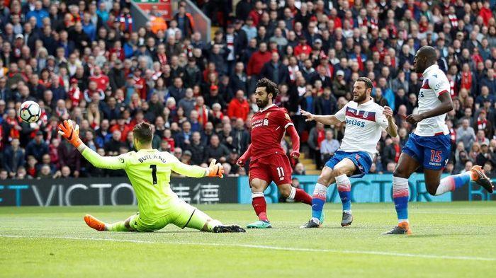 Liverpool masih berimbang tanpa gol kontra Stoke di babak pertama (Carl Recine/Reuters)